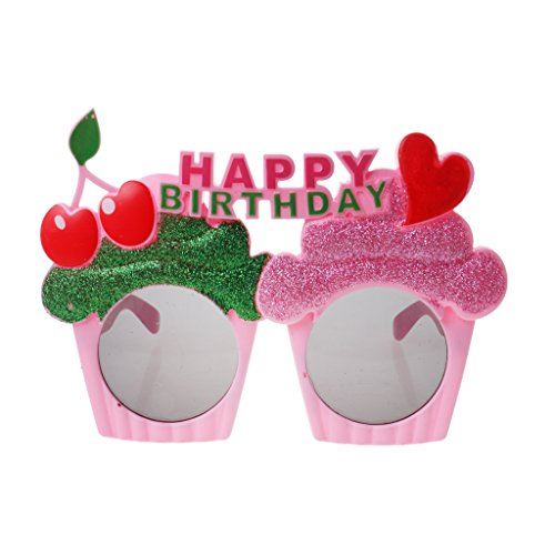 Hellery Happy Birthday Glitter Sonnenbrille Brille Googles Kostüm Henne