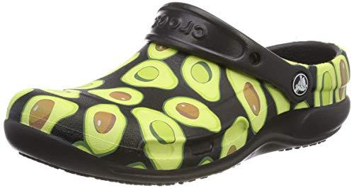 Crocs Bistro Graphic Clog, Unisex - Erwachsene Clogs, Schwarz (Black), 49/50 EU