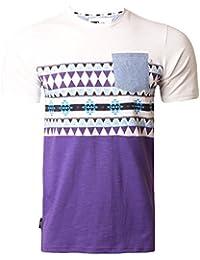 a184d6be D-Code Mens T-Shirt Aztec Print T-Shirt Short Sleeved Top Summer
