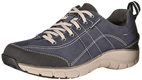 Clarks Wave-Trek-Turnschuh. navy leather