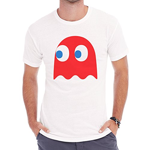 The Pacman Red Ghost Adorable Herren T-Shirt Weiß