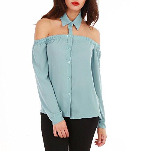 la-modeuse-camisas-para-mujer-azul-talla-unica