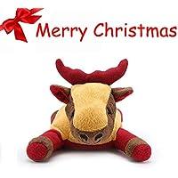 Pro Goleem Haustier Plüsch Squeaker Spielzeug Hund Stofftiere für Langeweile Welpen Weihnachtsgeschenke (Elk)