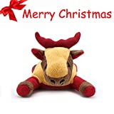 Pro Goleem Pet Plush Squeaker Cane Giocattolo Peluche per noia Puppy Christmas Gifts (Elk)