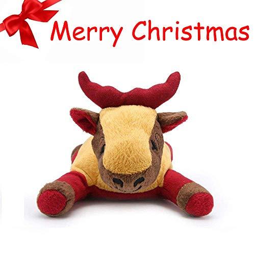 Pro Goleem Pet Plush Squeaker Cane Giocattolo Peluche per noia Puppy Christmas Gifts (Elk)