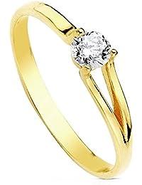 c3ee2914e857 Amazon.es  anillos mujer oro 18k - 14 (17