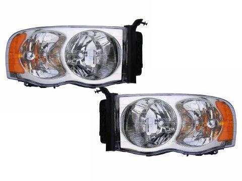 Dodge Ram 1500 2500 3500 Pickup Headlights Headlamps Driver/Passenger Pair New by Headlights Depot