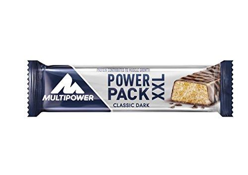 Multipower Power Pack XXL Classic Protein Riegel – Eiweißriegel mit 27% Protein – klassischer Power Bar als gesunder Sport-Snack – mit leckerem Banane-Schokolade-Geschmack – 24x60g (Und Große Hohe Sport-mäntel)