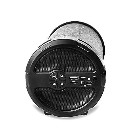 GizmoVine Bluetooth drahtloser Stereolautsprecher beweglicher lauterer Lautsprecher mit erhöhtem Baß,