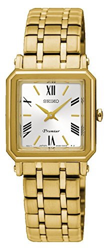 Seiko Damen Analog Quarz Uhr mit Edelstahl Armband SWR030P1