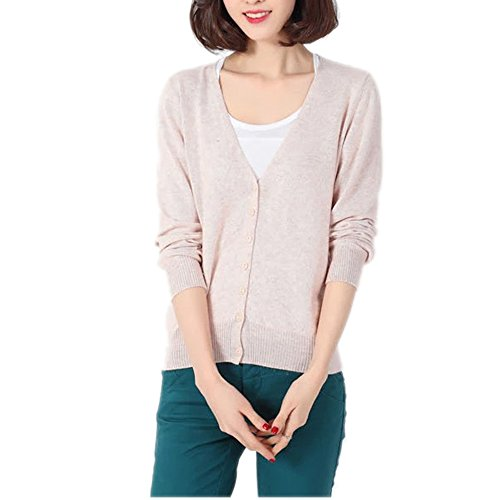 HIDOUYAL Open Cardigan Coat Long Sleeve Long Knitted Coat Shirt Women's Cardigan (Beige, S)