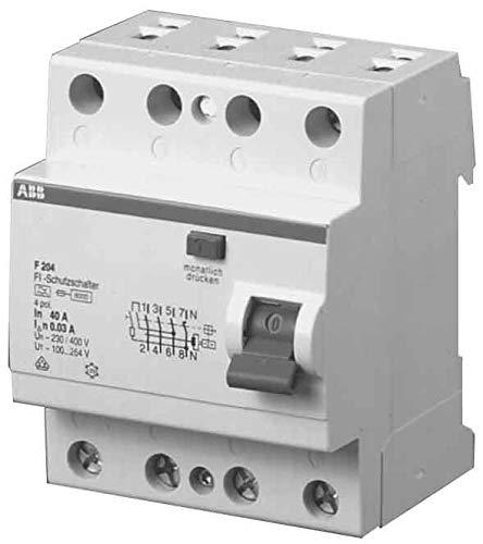 ABB Stotz S&J FI-Schutzschalter F204A-40/0,03L pro M Compact System pro M compact Fehlerstrom-Schutzschalter 8012542820208