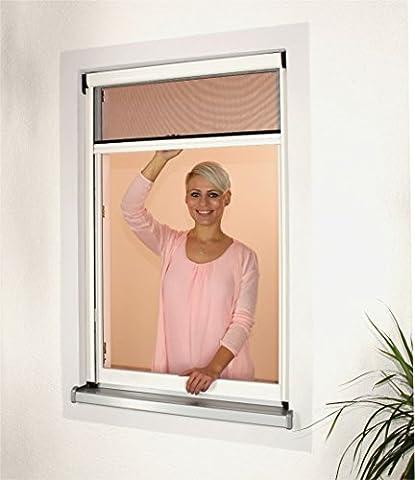 1PLUS Premium Aluminium Insektenschutz Rollo für Fenster in verschiedenen Größen und Farben (160 x 160 cm, Weiß)