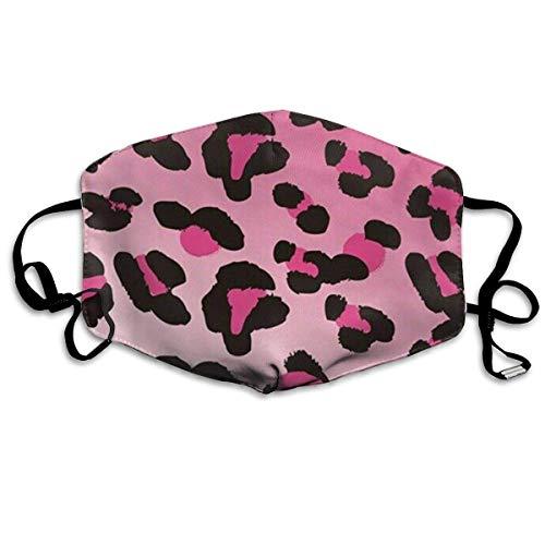 Vbnbvn Unisex Mundmaske,Anti Staub Schutzhülle,Anti Air Pollution Cheetah Leopard Blush Pink Fashion Dress Up Face Mask Anti Dust 100% Polyester Muffle Mask Adjustable Earloop Face Mask