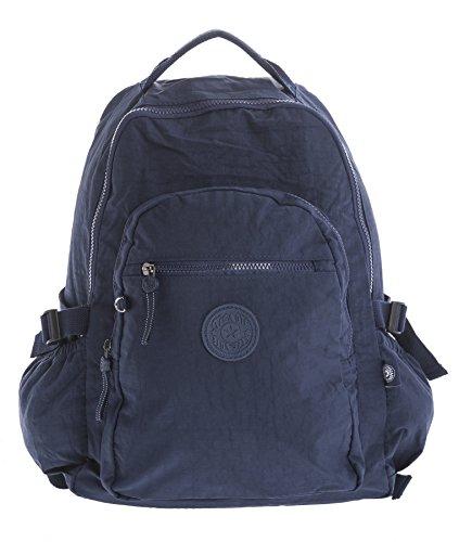 Big Handbag Shop , Sac à main porté au dos pour femme Backpack Style 1 - Navy
