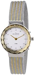 Skagen White Label Women's Quartz Watch with Silver Dial Analogue Display and Silver Stainless Steel Strap 456SGS1