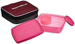 Signoraware Nano Twin Smart Lunch Box with Bag, Pink