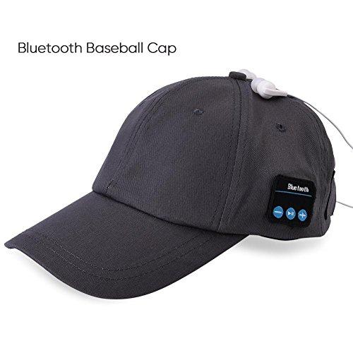 Chapeau de musique d'écouteur de Bluetooth sans fil de chapeau de Bluetooth pour le sport en plein air exécutant le casquette de baseball (gris)