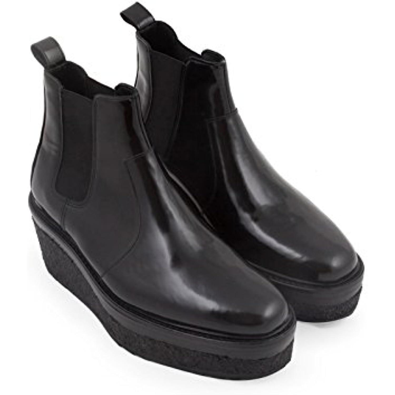 Pierre Hardy Bottines Compensée Cuir Veau Code Brillant Noir - Code Veau Modèle: LK02 Shiny Calf Black - B07BDP5PNS - 283a7d