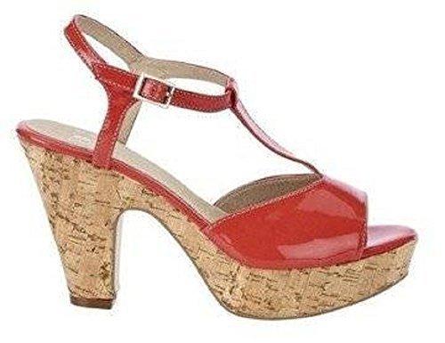 Sommerlche Sandalette aus Lack - Farbe Koralle Koralle