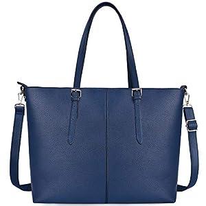 NUBILY Laptop Damen Handtasche 15,6 Zoll Shopper Handtasche Elegant Leder Taschen Große Leichte Elegant Stilvolle Frauen Handtasche für Business/Schule/Einkauf