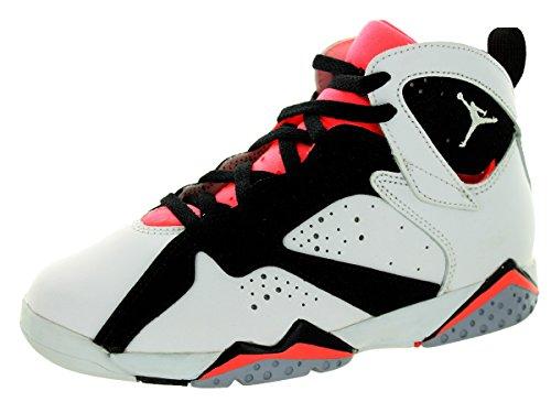 Nike Jordan 7 Retro Gp, Scarpe da Ginnastica Bambina White/White/Black/Hot Lava