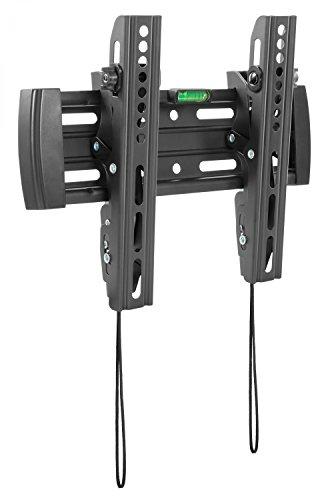 RICOO TV Wandhalterung N4522 Fernseh Universal Halterung Neigbar Aufhängung Curved LCD Wandhalter Fernseherhalterung Wand Halter Flach 58-107cm 23-42 Zoll VESA 100x100 200x200 Schwarz