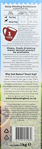 Bakers Complete Dog Food Small Dog Tender Meaty Chunks Tasty Chicken and Country Vegetables, 2.7 kg - Pack of 4 6