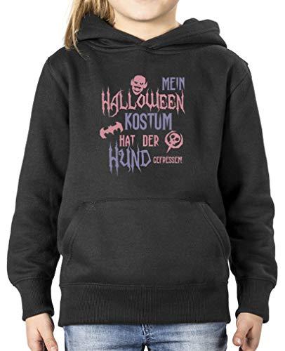 Halloween Kostuem hat der Hund gefressen - Mädchen Hoodie - Schwarz/Rosa-Violett Gr. 98/104 ()