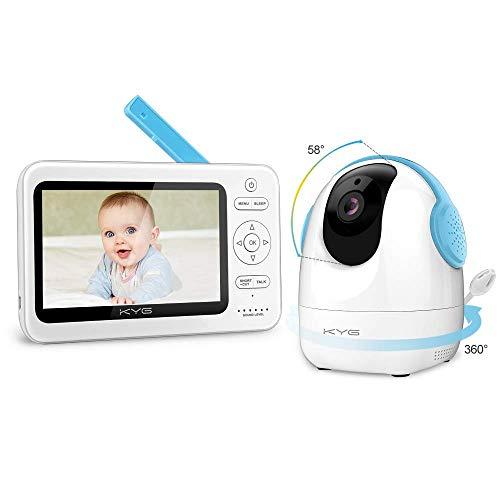 KYG Vigilabebés Inalambrico Monitor Bebé 720p Pantalla