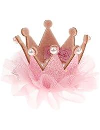 Blumenmädchen Kinder Geburtstagsparty Spitze Krone Tiara Haarband Haarspangen - Rosa