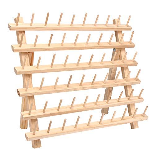 Masun 60 Spulen Nähgarn Rack Stickerei Aufbewahrung Holz Halter Kegel Ständer Regal Nadelarbeiten Werkzeug