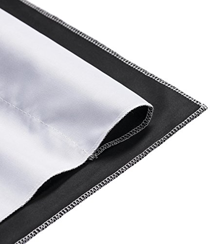 Walimex Pro 2-in-1 Stoffhintergrund 2,85x6 m schwarz/weiß