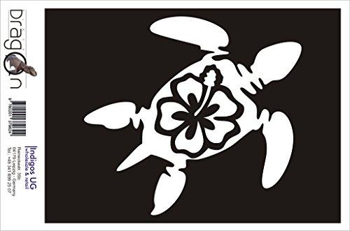 INDIGOS UG Aufkleber Autoaufkleber - JDM Die Cut Auto OEM - Schildkröte Hawaii - 120x100 mm rot - Auto Laptop Tuning Sticker Heckscheibe LKW Boot