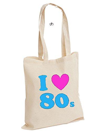 I Heart Love The 80's Cotton Tote Bag