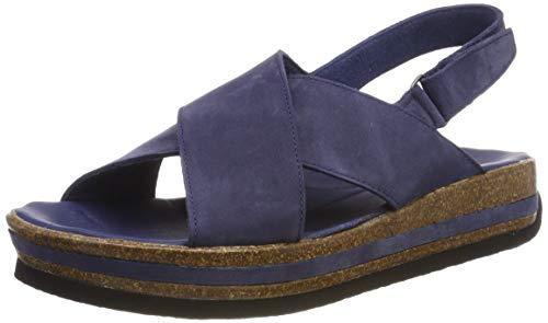 Think! Damen ZEGA_484388 Slingback Sandalen, Blau (Indigo 89), 41 EU - Suede Slingback Schuhe
