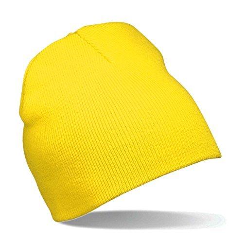 Myrtle Beach Strick Beanie Nr.1 MB7580, Farbe: gelb - Kostüm Minions