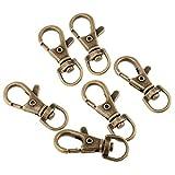 F Fityle 40 Stück Schlüsselanhänger geeignet für Handtaschen, Hundehalsband, Schultergürtel Schlüsselanhänger - Antikes Messing