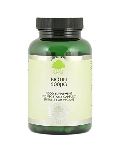 G&G Vitamins Biotin 500mcg 120 veg. Kapseln (vegan)(60g) -