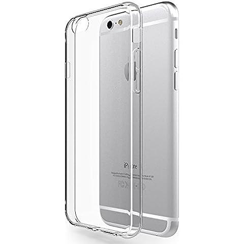 Funda iPhone 6 / 6s Azorm Prism Crystal - Funda de Silicona de gel TPU Transparente, Ultra delgada, Resistente a los arañazos en su parte trasera, Amortigua los golpes [SE INCLUYE UN PROTECTOR DE PANTALLA Y UNA BAYETA LIMPIADORA] funda protectora anti-golpes para iPhone 6, iPhone
