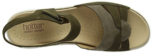 Hotter Madeline, Scarpe Col Tacco Donna Green (Loden Green Multi)