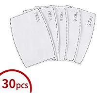 Warmword PM 2.5 Filtro de carbón activado, 5 capas de filtros reemplazables, 30 unidades