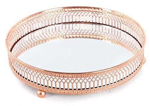 Teelicht Spiegel (Kupfer Spiegel Teller Kerzenhalter, Votivkerzen, Teelichter, Tisch Mittelpunkt, Decor, S)