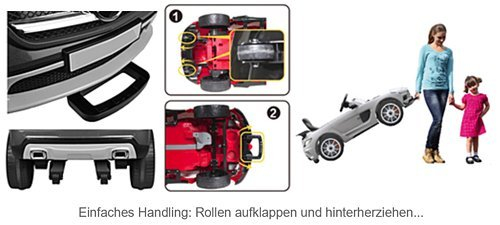 RC Auto kaufen Kinderauto Bild 5: SIMRON - Mercedes-Benz A45 AMG SUV Ride-On 12V Kinderauto Kinderfahrzeug (Schwarz)*