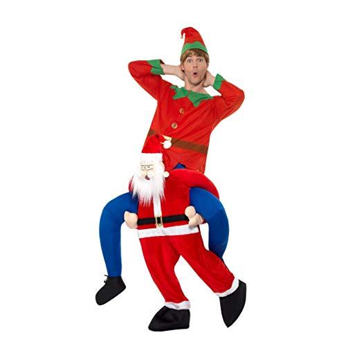 Amakando Aufsitz-Kostüm Santa Claus / Witziges Weihnachtskostüm Knecht Ruprecht / EIN Blickfang zu Weihnachtsfeier & - Kostüm Von Santa Claus