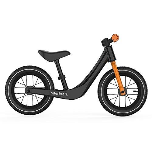 ür Kinder Kein Pedal Fahrrad mit Magnesiumlegierung Baby Walker Push Car Kein Pedal Slide Car Pneumatische Rad PNYGJLPHC (Color : Black) ()