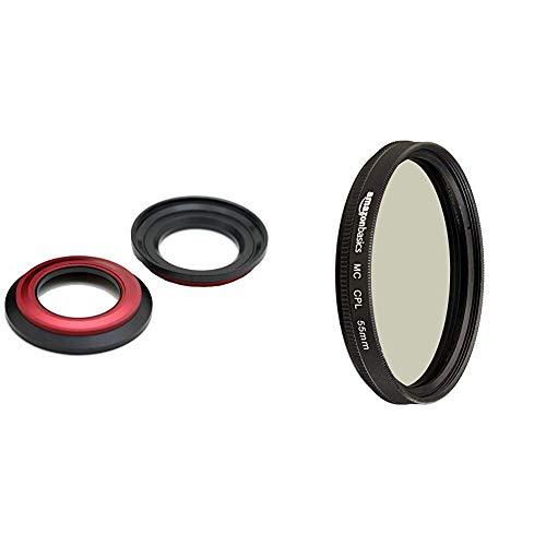 Carry Speed MagFilter Filteradapter auf 55mm magnetischer Filteradapter für Sony RX100/HX10/HX20/HX30V & AmazonBasics Zirkularer Polarisationsfilter - 55mm
