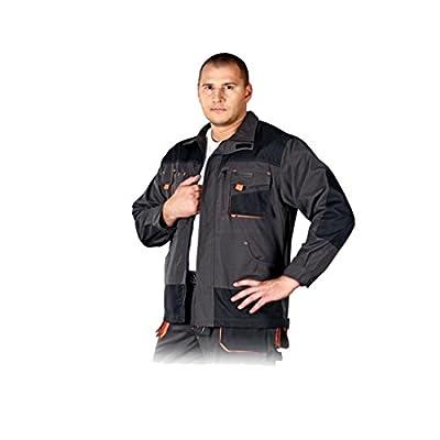 Arbeitsjacke Sicherheitsjacke Arbeitsbekleidung Schutzjacke Jacke Arbeitsschutzkleidung Leber & Hollman schwarz orange Größe S