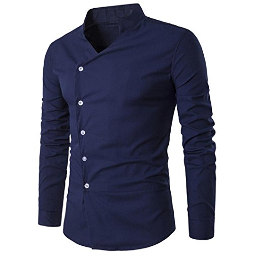 Camicia da uomo , feixiang® t-shirt shirts camicia camicie polo camicetta cappotto giacca maglione felpe hoodie pullover maniche lunghe moda personalità casual slim top m~l2 (marina, m)
