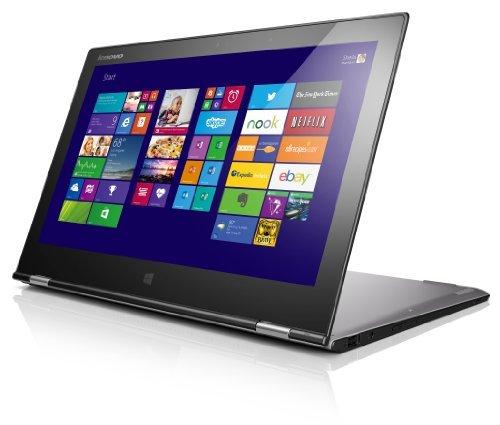 Lenovo Yoga 2 Pro 33,8 cm (13,3 Zoll QHD IPS) Convertible Ultrabook (Intel Core i5 4200U, 2,6 GHz, 8GB RAM, 256GB SSD, Touchscreen, Win 8.1) silber/grau